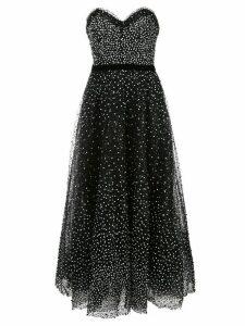 Marchesa strapless sequin evening dress - Black
