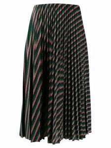 M Missoni metallic stripe midi skirt - Green
