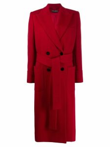 Dolce & Gabbana belted double-breasted coat - Red