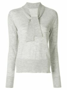 Onefifteen tied knitted jumper - Grey