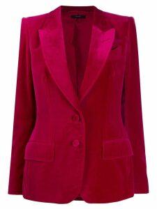 Tom Ford velvet hourglass single-breasted blazer - Pink