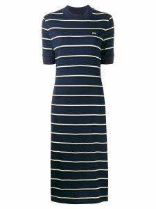 Lacoste Live striped knit sweat dress - Blue