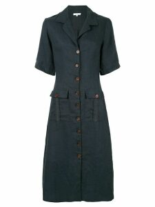 Venroy patch pocket shirt dress - Blue