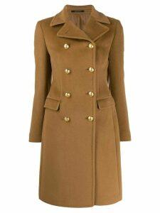 Tagliatore double breasted midi coat - Neutrals