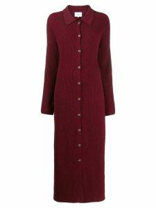Nanushka 70's fitted knit dress - Red