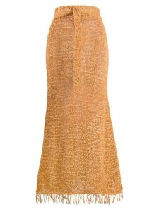 Nanushka Loose Knit A-line skirt - ORANGE