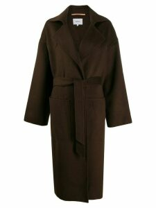 Nanushka Oversized Robe coat - Brown