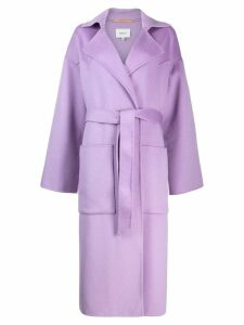 Nanushka oversized robe coat - PURPLE