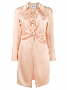 Nanushka Lace front mini dress - Pink