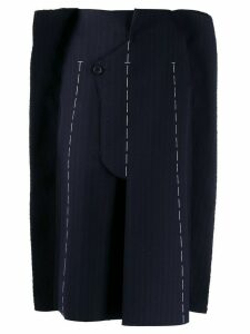 Maison Margiela stitched pinstripe structure skirt - Blue