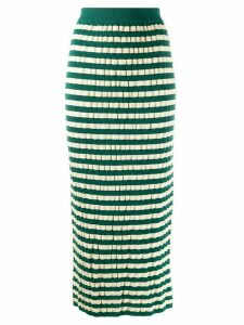 Marni striped pencil skirt - Green