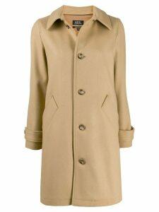 A.P.C. classic single-breasted coat - NEUTRALS