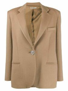 Alessandra Rich straight-fit blazer - NEUTRALS