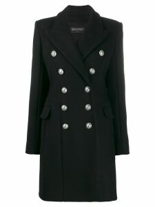 Balmain double-breasted coat - Black