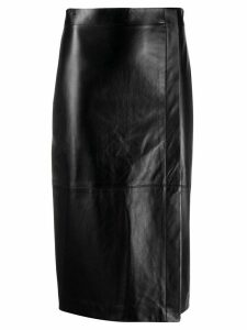 Antonelli side-slit pencil skirt - Black