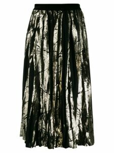 Guardaroba metallic sheen pleated skirt