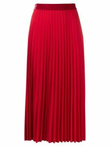 Guardaroba high waisted pleated skirt - Red