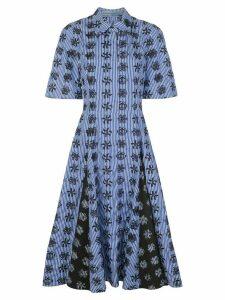 Jonathan Cohen embroidered-detail shirt dress - Blue