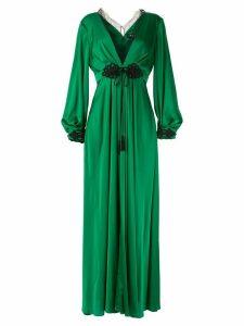 Paule Ka Raso plunge-neck gown - Green