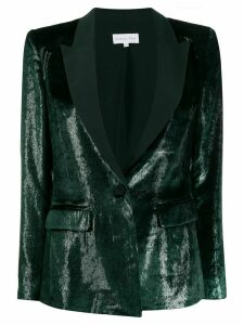 Patrizia Pepe textured tuxedo-style blazer - Green
