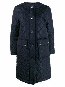 Mackintosh Huna quilted nylon coat - Blue