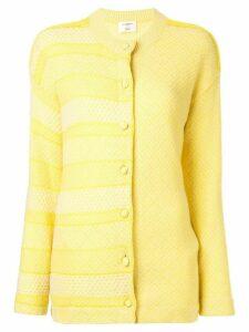 Onefifteen panelled stripe cardigan - Yellow