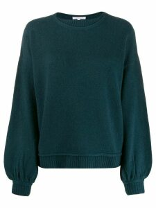 Patrizia Pepe ribbed trim knitted jumper - Blue