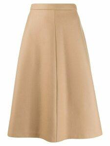 Miu Miu A-line flared skirt - Brown