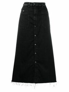 Diesel frayed hem JoggJeans skirt - Black