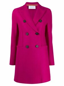Harris Wharf London short double breasted coat - PINK