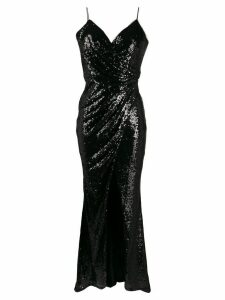 Blanca sequin fitted dress - Black