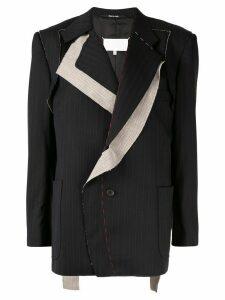 Maison Margiela deconstructed pinstriped blazer - Black