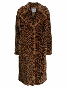 STAND STUDIO leopard print coat - Brown