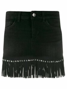 LIU JO fringed studded skirt - Black