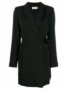 Murmur Gentleman wrap coat - Black