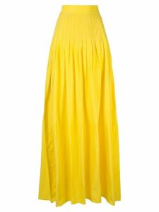 Alexis pleated a-line skirt - Yellow