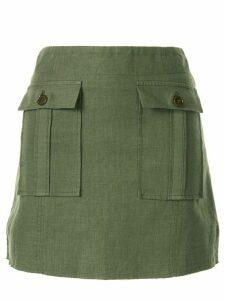 Venroy straight mini skirt - Green