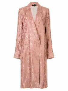 Ann Demeulemeester buttoned floral midi coat - PINK