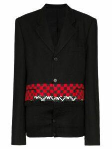Haider Ackermann checked knitted blazer - Black