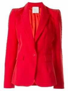 Ingie Paris single-breasted fitted blazer - Red