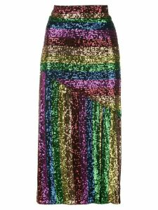 Iorane sequinned rainbow skirt - Multicolour