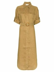 Zimmermann Safari button-down midi dress - Green
