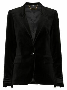 FRAME stand-collar embroidered blazer - Black