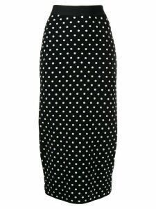 Escada Sport polka-dot pencil skirt - Black