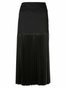 Alexis Dionne pleated midi skirt - Black