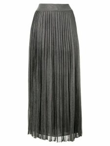Alberta Ferretti plissé laminated knit skirt - Grey