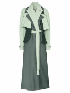 Marta Jakubowski Daisy layered trench coat - Green