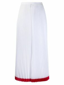 Lacoste two-tone pleated midi skirt - White