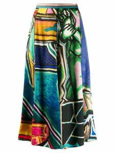 Paul Smith printed midi skirt - Blue