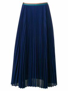 Paul Smith pleated midi skirt - Blue